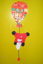 Kerstman aan ballon