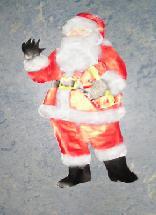 Kerstman beplakken