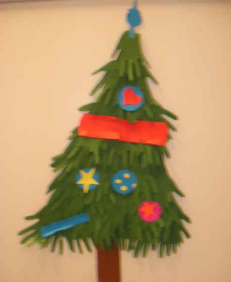 Kerstboom van handjes