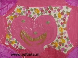 Vaderdag of moederdag schilderij