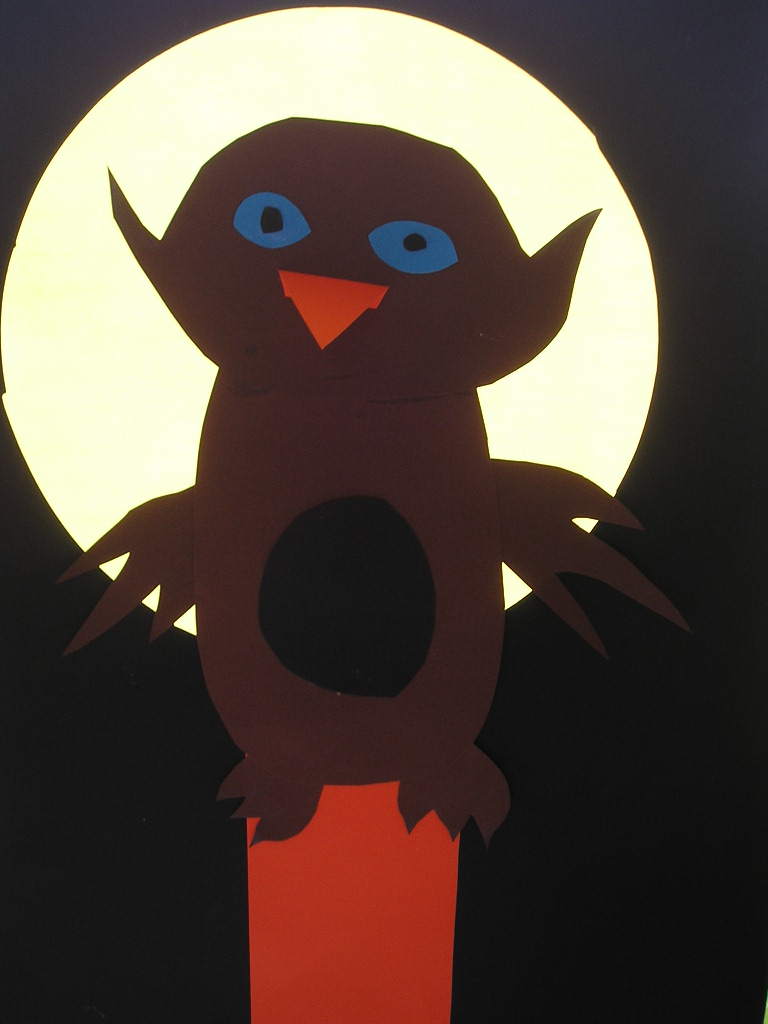 Raamdecoratie uit in maanlicht