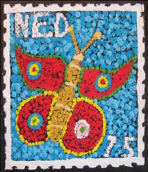 Postzegel nastempelen