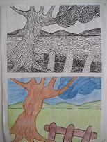 Twee keer dezelfde tekening
