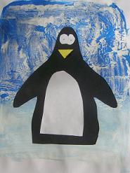 Pinguin schillderen