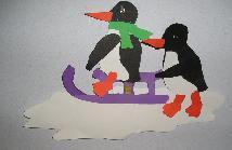 Pinguïns op de slee