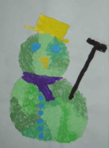 Sneeuwpop stippelen