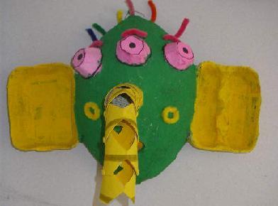 Masker van kosteloos materiaal