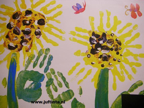 bloem vingerverven 2