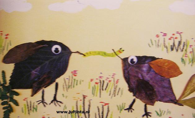 vogels van bladeren