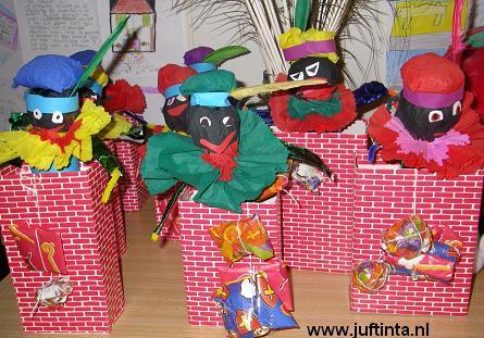 Zwarte Piet uit schoorsteen