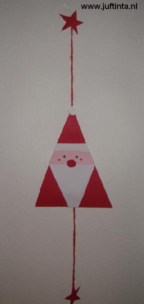 kerstman driehoek