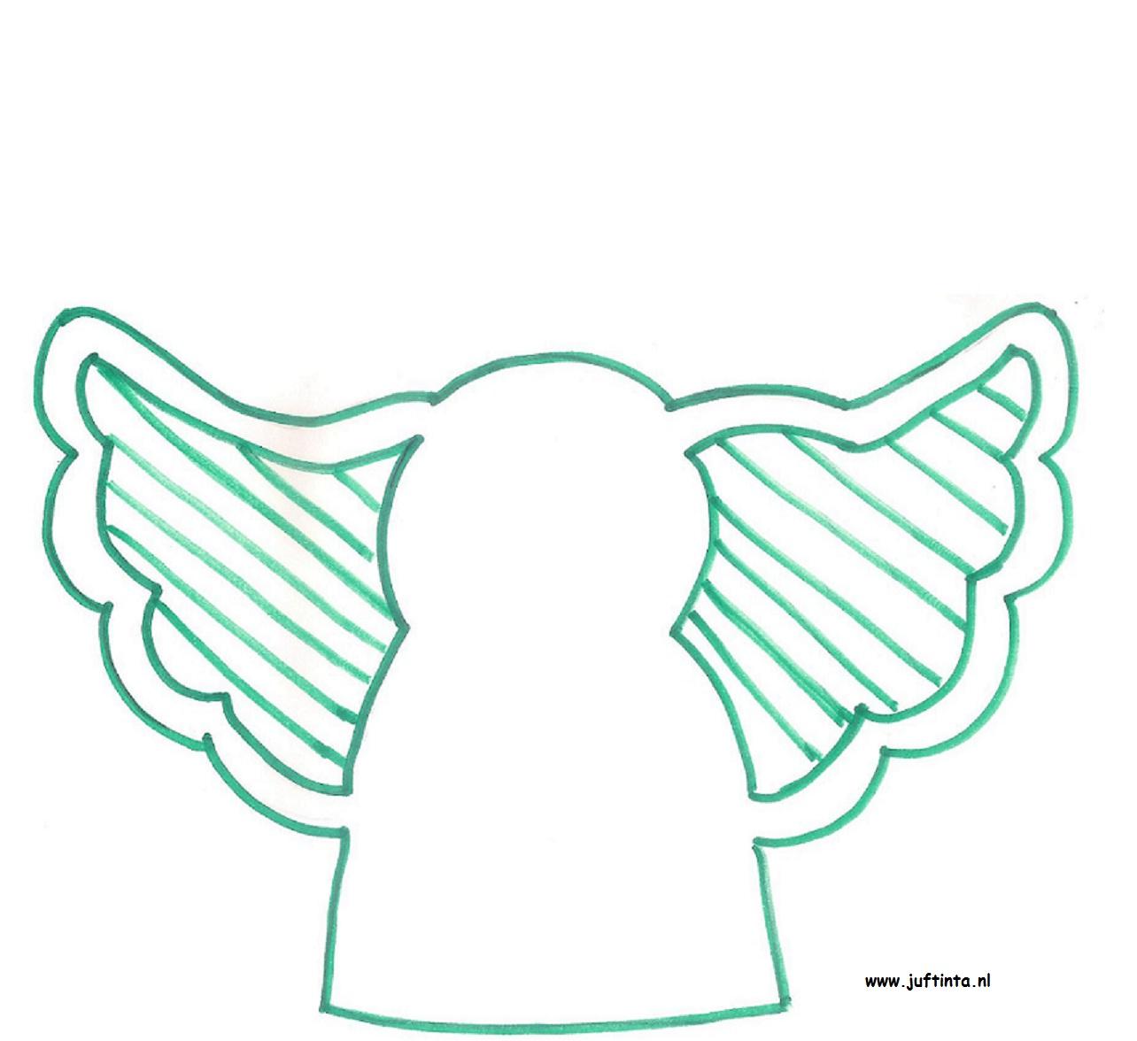 Engel doorzichtige vleugels