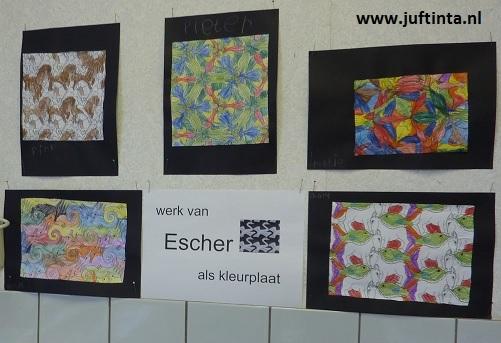 Kleurplaat Van Escher Knutselen