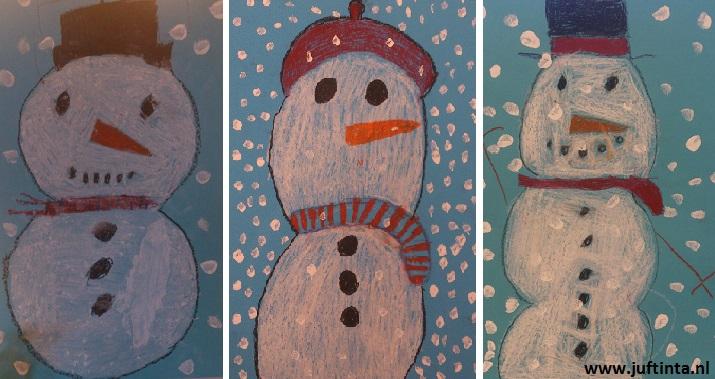 sneeuwpop tekenen