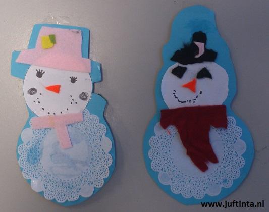 sneeuwpop van papieren onderzetter