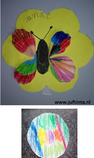 vlinder van 2 rondjes
