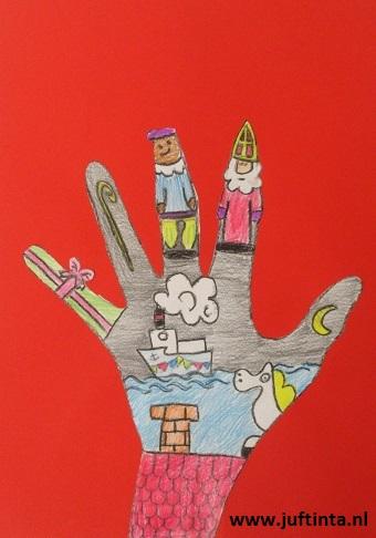 hand versieren thema sinterklaas